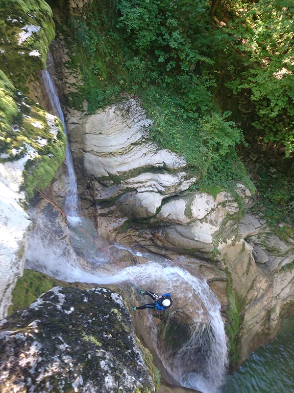 sortie canyoning Jura : canyon coiserette